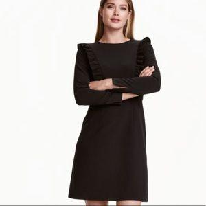 H&M Long Sleeve Frilled Dress Sz 10